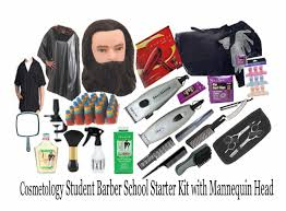 cosmetology student barber starter kit w mannequin head