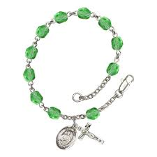 st jude bracelet st jude thaddeus green august rosary bracelet 6mm the catholic