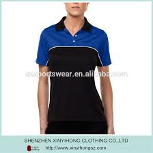 two colour combination design two color combination polo t shirt for lady sportswear with