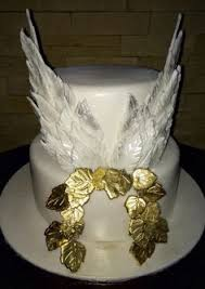 Angel Decorated Cake Fondant Wings On The Cake Because Hew Always Calls Me An Angel