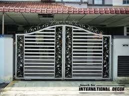 option of gate designs for private home gallery with various