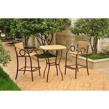 Bar Height Patio Furniture by Valencia 3 Piece Wicker Iron Bar Height Patio Bistro Furniture Set
