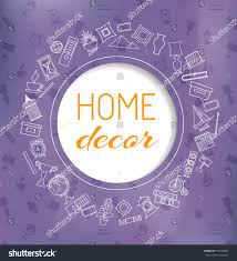 home decor banner card icons accessories stock vector 613150205