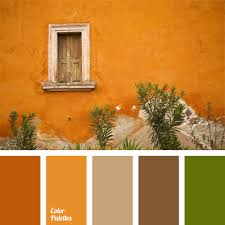 autumn palette orange brown gray brown hues combined