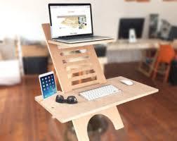 adjustable standing desk etsy