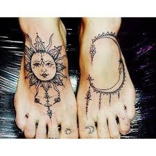 sun moon tattoos pinterest