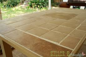 Outside Tile For Patio Outdoor Tiled Table A How To Killer B Designs
