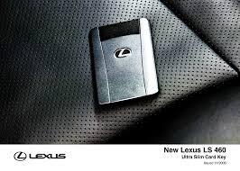 lexus key card ls 460 interior 2007 2010 toyota uk media site