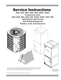 100 american standard heat pump manual goodman ssz160601 5