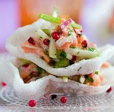 cuisiner avec du gingembre recette tartare de saumon au gingembre avec radis et pomme verte