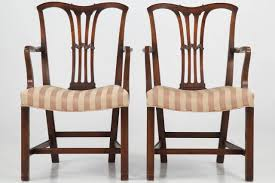 set of six chippendale style antique dining chairs 19th century