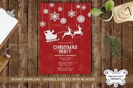 christmas party invitations template invitation templates