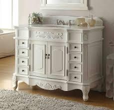 42 u201d traditional style antique wht morton bath sink vanity cf 2815w