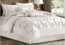 janelle white 7 pc comforter set linens white