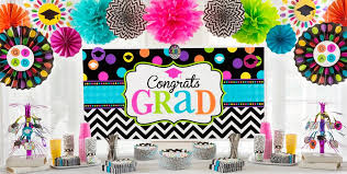 chevron u0026 dots graduation decorations graduation party party city