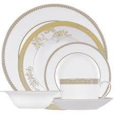 vera wang lace gold 24 dinner set havens