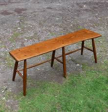 buy hand crafted live oak bench with live edge dining table
