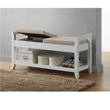 baxton studio quaid contemporary white wood shoe storage bench