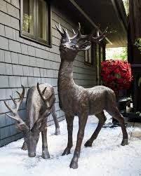 ideal for both indoor and outdoor use these size outdoor deer