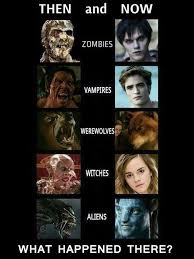 Funny Twilight Memes - evolution of movie monsters ruined childhood know your meme