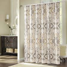 Modern Bathroom Shower Curtains by Amazon Com Uphome Roman Style Grey Beige U0026white Waterproof And