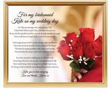 Matron Of Honor Poem Bridesmaid Poem Home Furniture U0026 Diy Ebay