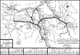 of akron map the baltimore ohio rr akron chicago division system map