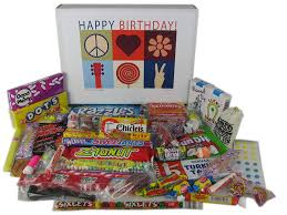 happy birthday gift baskets happy birthday wishes gift box of retro candy for a