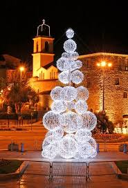 christmas light balls for trees led snowflake and light sphere tree wreath chion studios