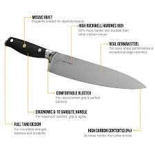 professional german steel 8 inch chef knife sharppebble