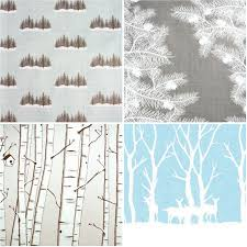birch tree wrapping paper gift wrap up going home to roost
