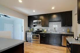 Dark Espresso Kitchen Cabinets Espresso Cabinets And Light Hardwood Floors Kitchen Pinterest