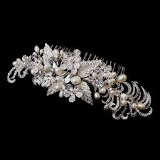 pearl hair accessories silver freshwater pearl hair comb bridal hair accessories