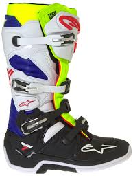 motocross boots australia alpinestars white fluorescent navy tech 7 mx boot alpinestars