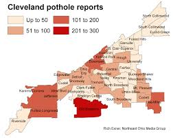 Cleveland Ohio Map by Mapping Cleveland U0027s Potholes Where They Have Been Reported To The