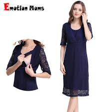 nursing dress emotion lace maternity clothes party maternity dresses