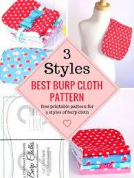 burp cloth pattern free printable pattern for 3 styles burp