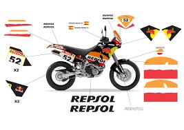 ktm lc4 640 adventure repsol redbull black signature custom designs