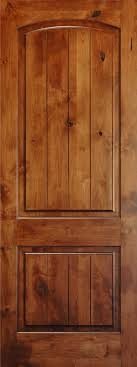 Knotty Pine Interior Doors Knotty Alder 8 V Groove Arch 2 Panel Wood Interior Doors
