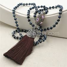 beads necklace wholesale images Wt nv130 wholesale long fashion knotted crystal beads tassel jpg