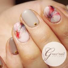 very pretty marble nail japanese style glam glam nail art