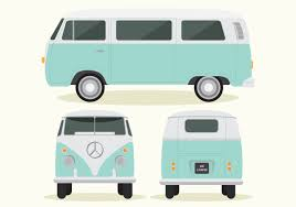 volkswagen hippie van clipart vintage label classic car download free vector art stock