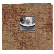 post bound photo album travel post bound album with window map 12x12 target