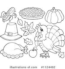thanksgiving clip in black white happy thanksgiving