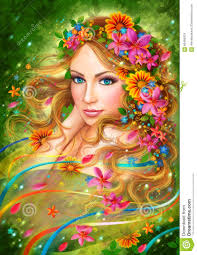 Beautiful Fairies by Fantasy Spring Beautiful Fairy Woman With Summer Flowers Nature