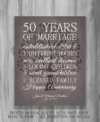 50 year anniversary gift 50th anniversary gift for parents keepsake 50 year anniversary