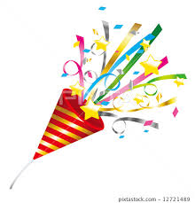 party poppers confetti ticker party popper stock illustration 12721489