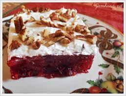 jam cranberry jello dessert