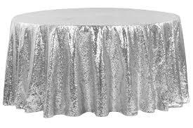 glitz sequins 108 tablecloth silver cv linens