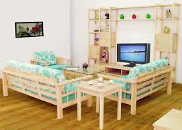 Wood Furniture Living Room Walls Interiors Wooden Sofa And Furniture Set Designs For Small